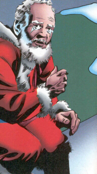 What kind of hero could pass a crying Santa?